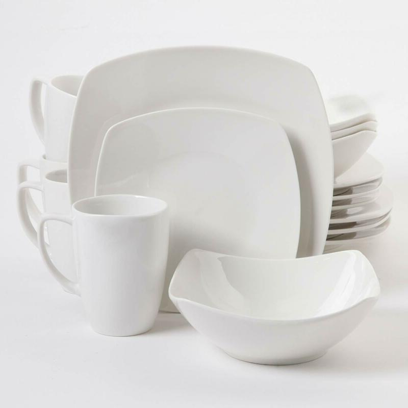Gibson Buffetware 16 Dinnerware White
