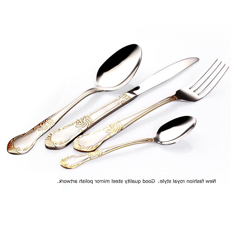 KMYC Hot <font><b>set</b></font> <font><b>dinnerware</b></font> <font><b>set</b></font> cubiertos