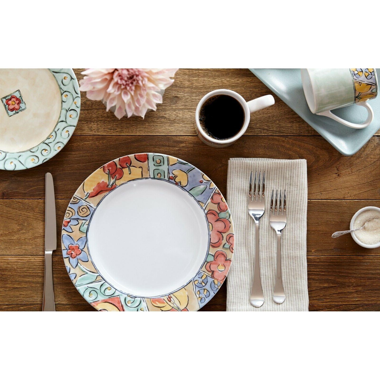 Corelle Impressions Watercolors 16-Piece Dinnerware Set - Fr
