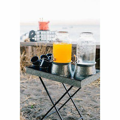Artland Galvanized Beverage Server - gal.
