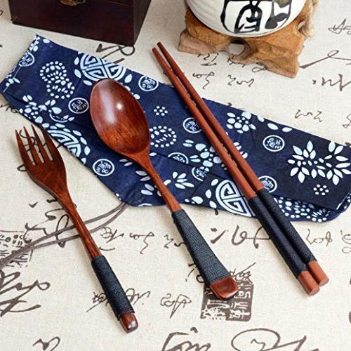 japanese vintage wooden chopsticks spoon