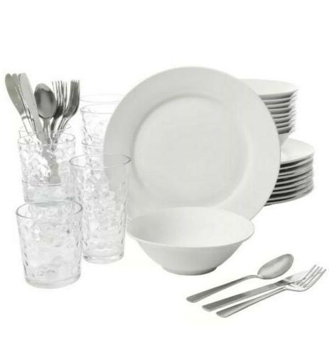 kitchen basic essentials dinnerware set 48 piece