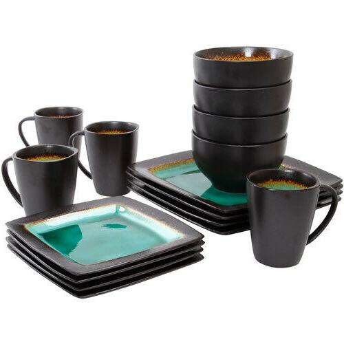 Kitchen Set 16-Piece Dinnerware Dishes Cup