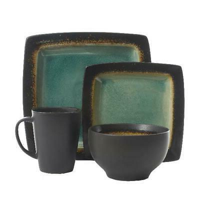 Kitchen Dinnerware Bowls Cup Round Turquoise