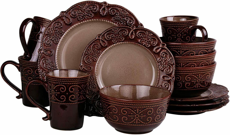 kitchen dinnerware dish set dining plate bowl