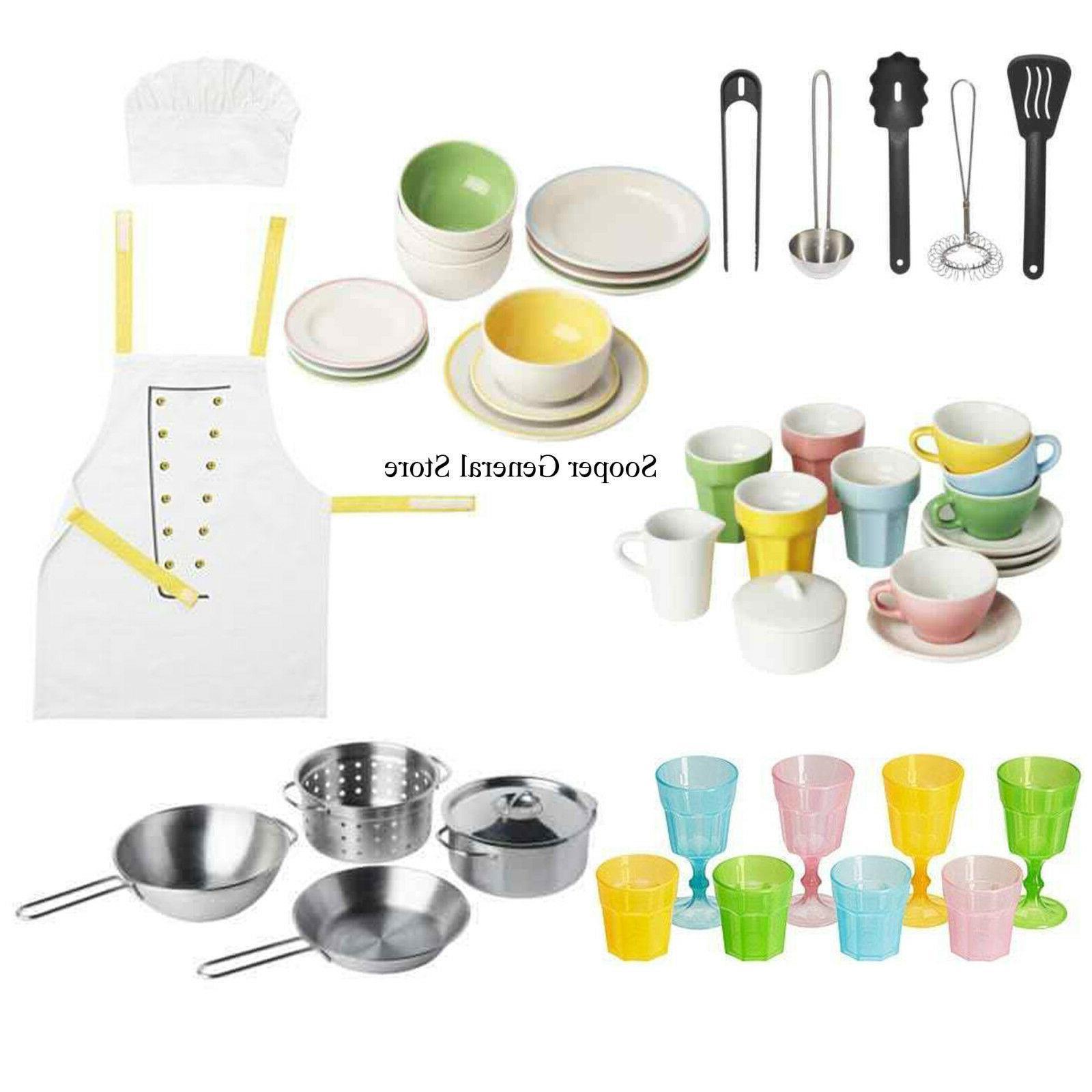 kitchen toys set accessories kids apron gift