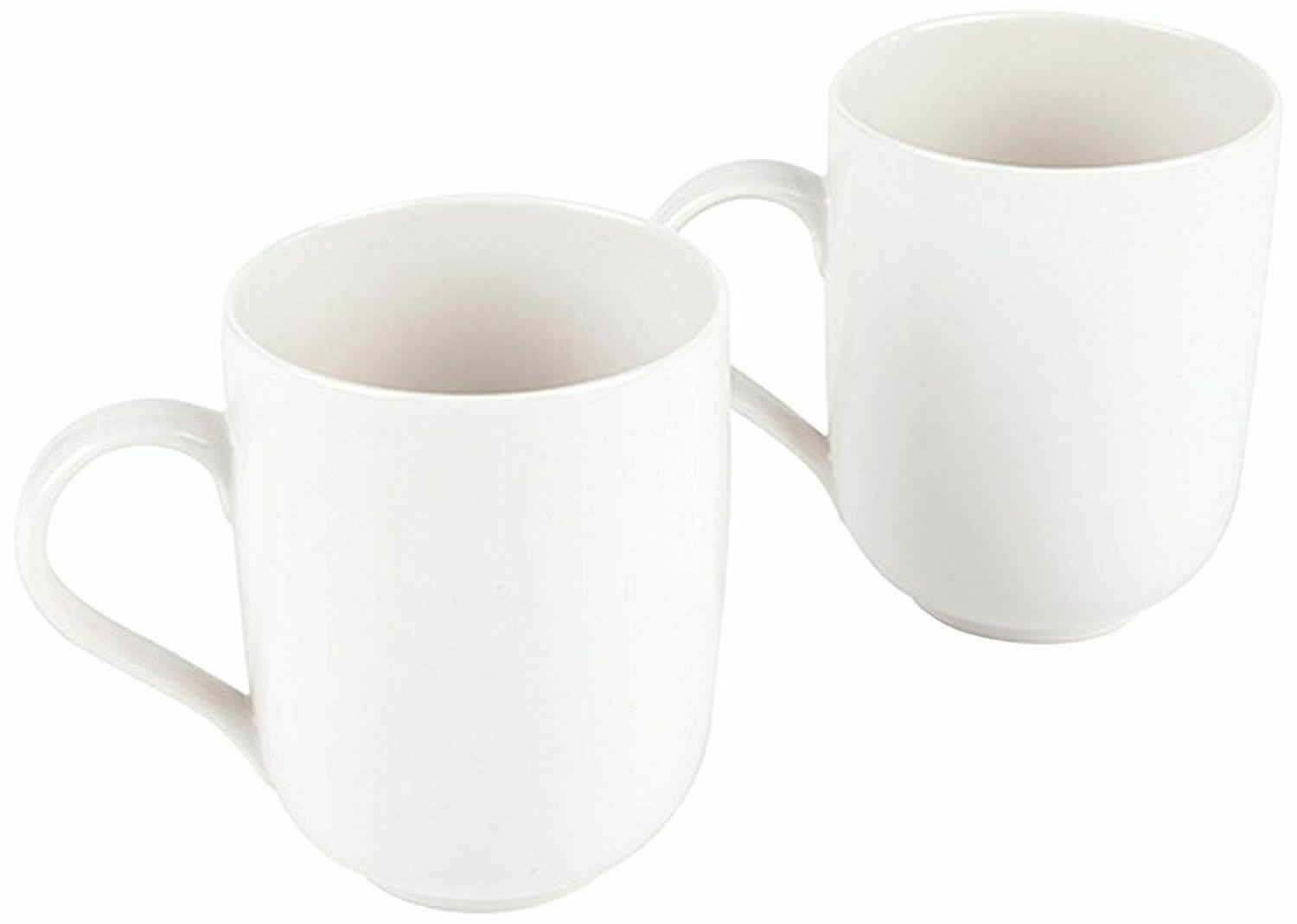 la bella tavola porcelain mugs off white
