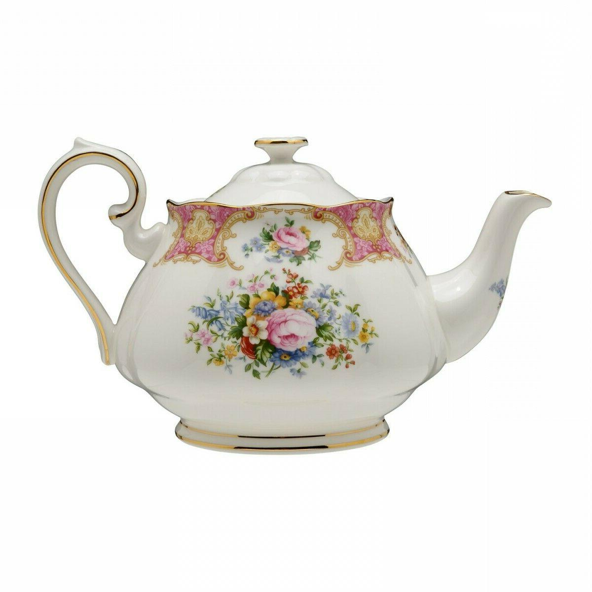 Royal Albert Lady Carlyle Teapot Tea Pot  Bone China New wit