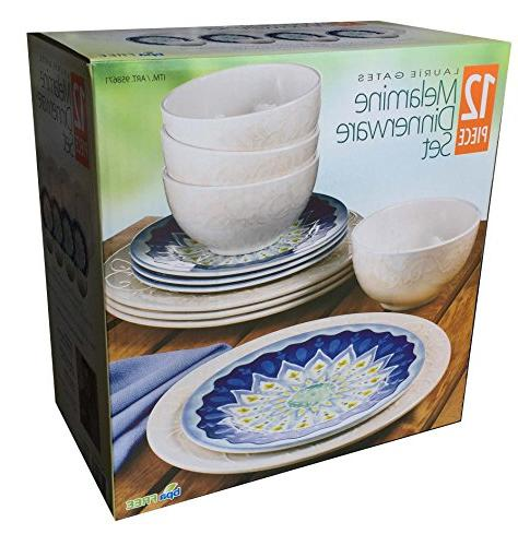 laurie gates piece melamine dinnerware set