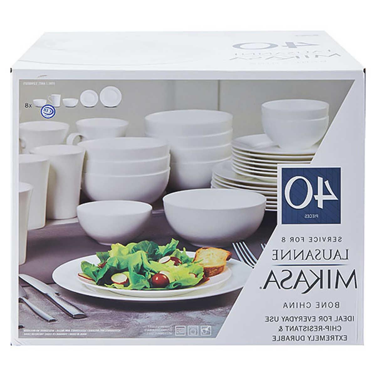 lausanne white 40 piece bone china dinnerware