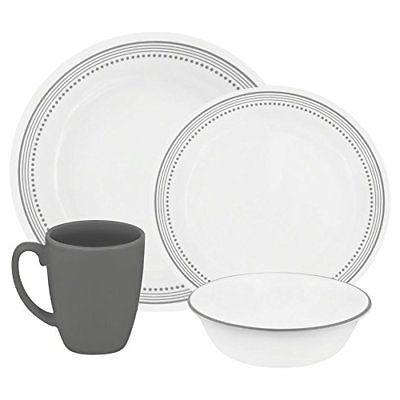 Dining Tools Kitchen Dishes 16-Count Dinnerware Set Mystic