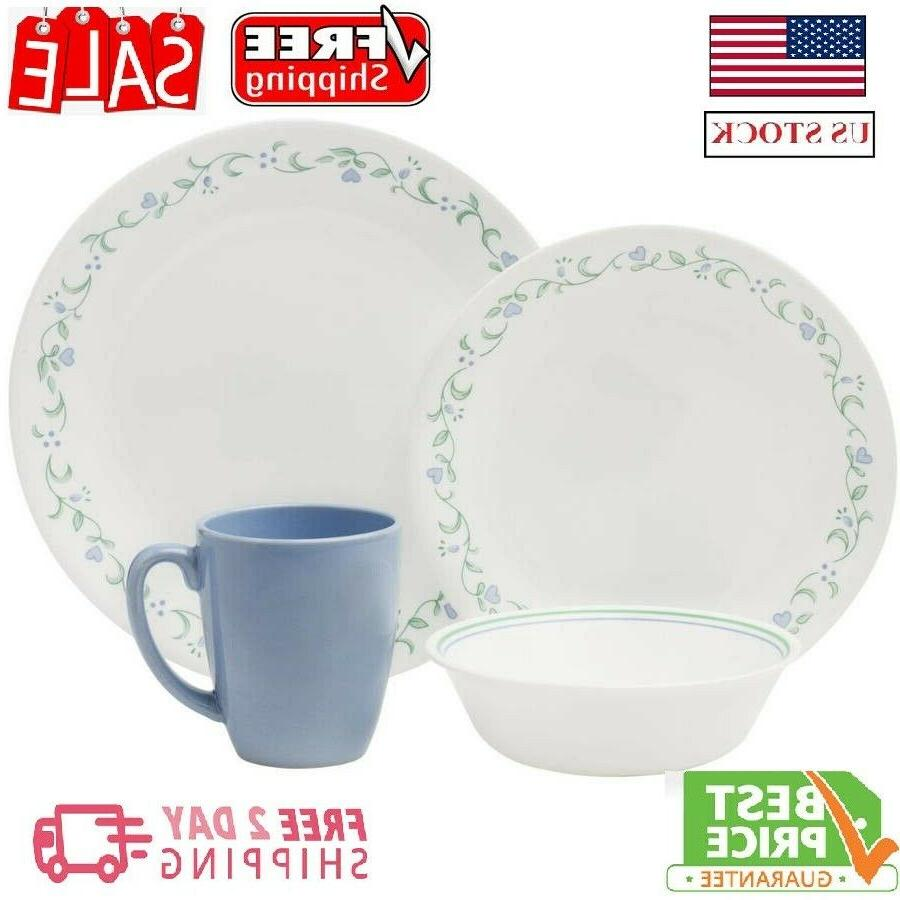 livingware country 16 pc dinnerware set suitable