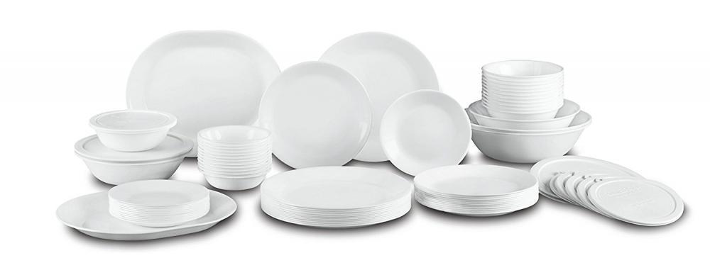 Corelle Livingware 74 Piece Dinnerware Set with Storage Lids