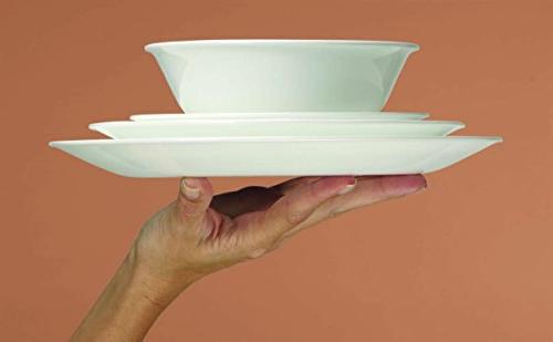 Corelle Livingware Cottage Design Service Chip Glass, and Dishwasher Bold Scratch and Fade with Design Easy