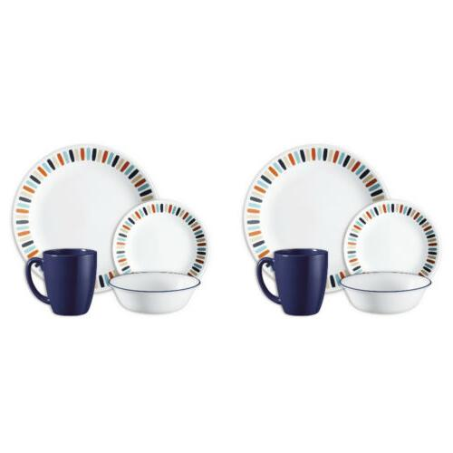 livingware dinnerware set payden break resistant round