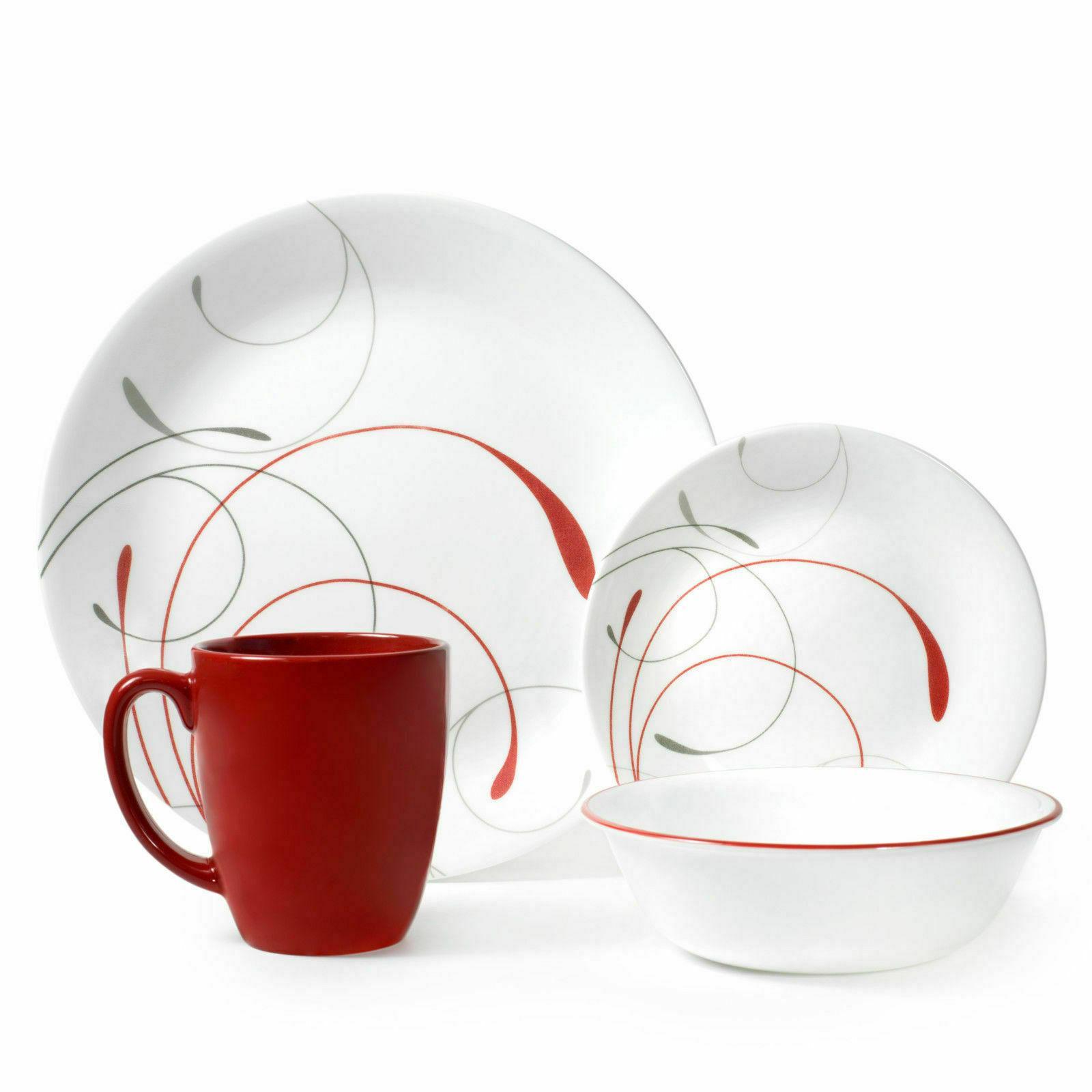 livingware splendor 16 piece dinnerware set white