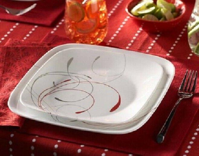 Corelle Splendor Square Dinnerware Set for
