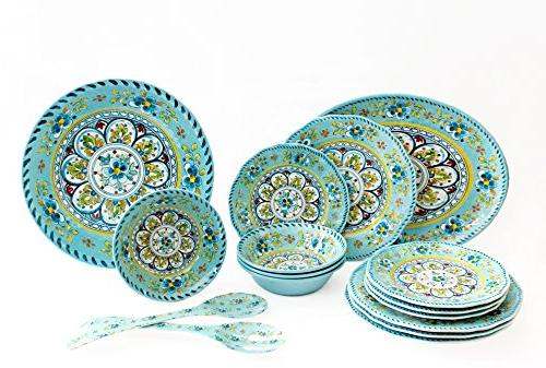 luxury melamine dinnerware set
