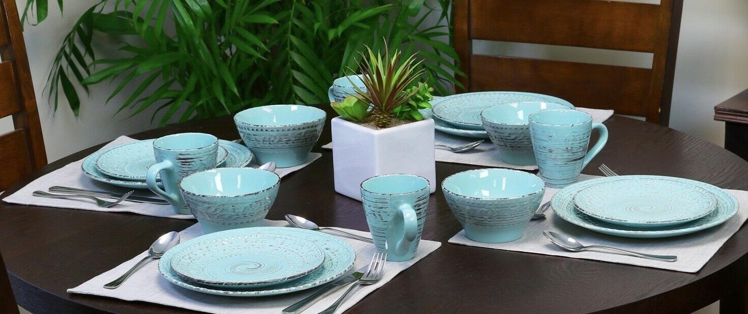 Malibu Set Dinnerware Piece Plate Mug Turquoise Vintage