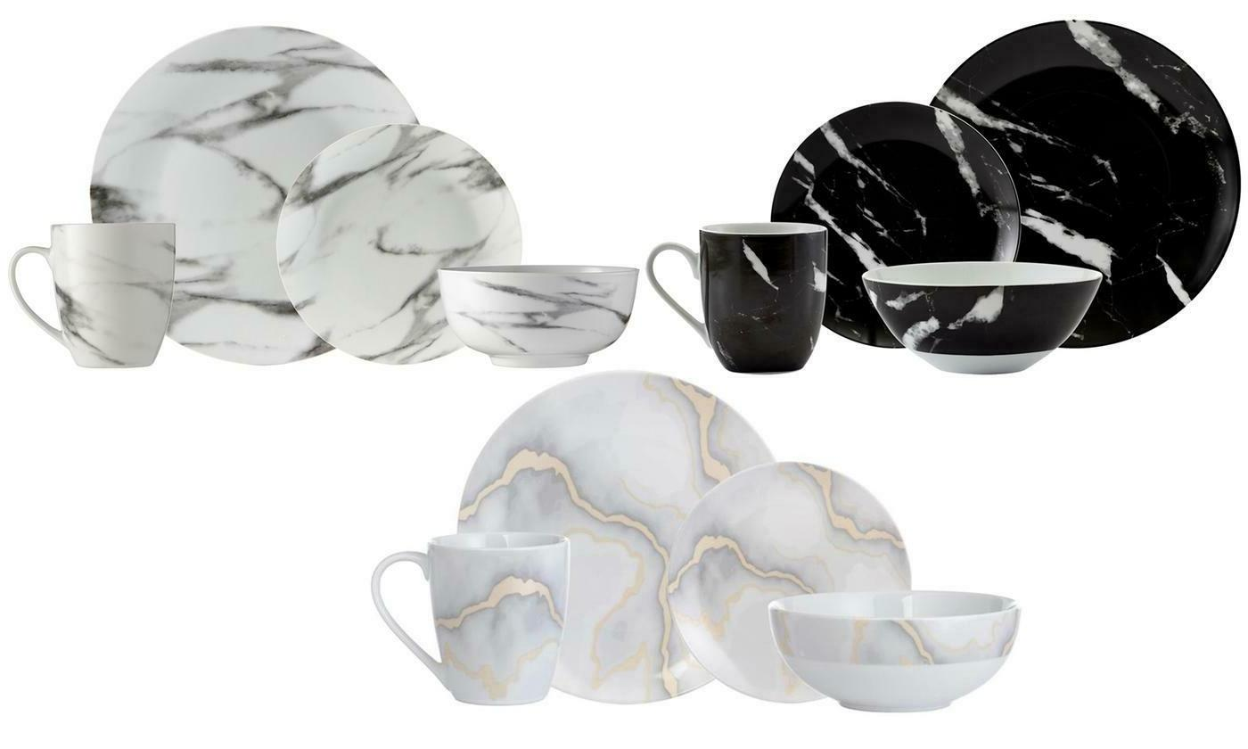 marble 16 piece dinnerware set