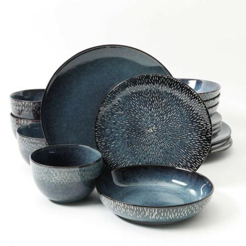 matisse 16 piece double bowl dinnerware set