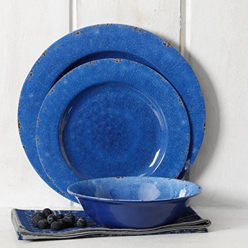 Gibson Overseas, 114335.12 Gibson Laurie Gates Piece Set, Cobalt Rustic,