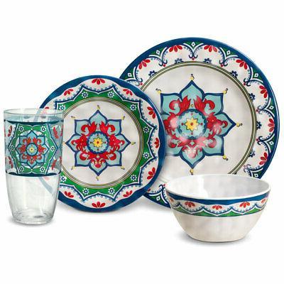 medallion melamine dinnerware set