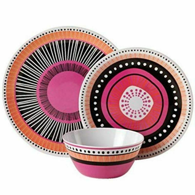 Melamine Dinnerware Bowls Dishes Dinner Kitchen Assorted