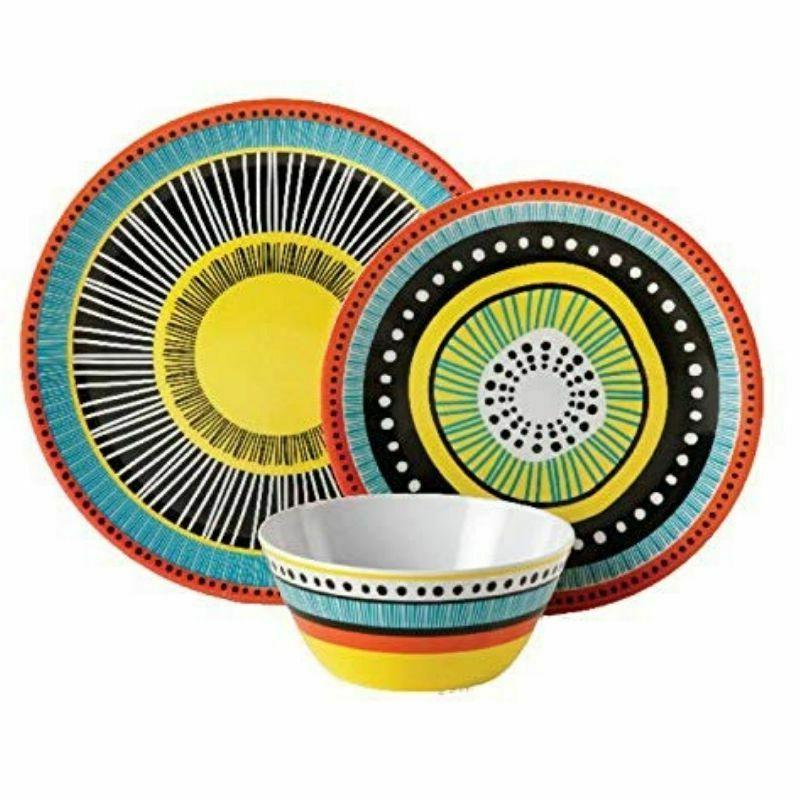 Melamine Dinnerware Dishes Assorted