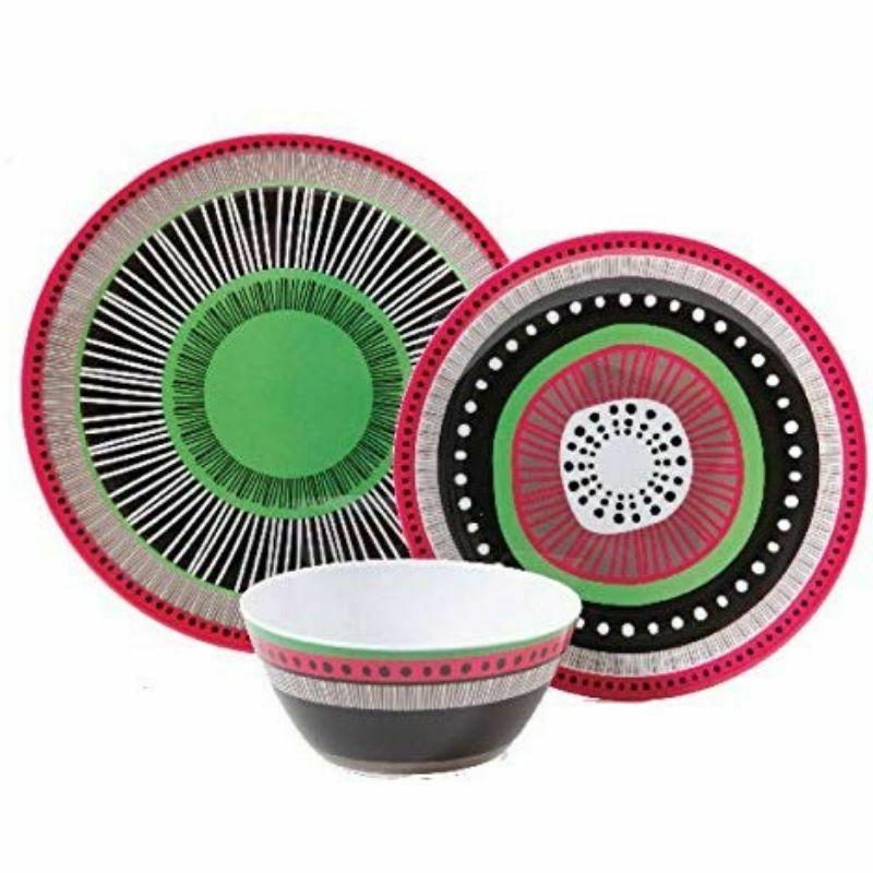 Melamine Plates Dishes Kitchen Assorted Set