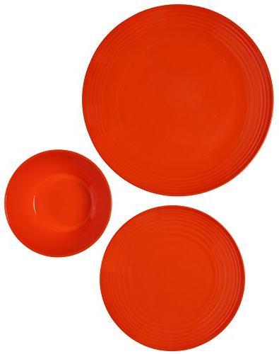 Melange Set | Shatter-Proof Chip-Resistant Melamine Bowls | Dinner Plate &