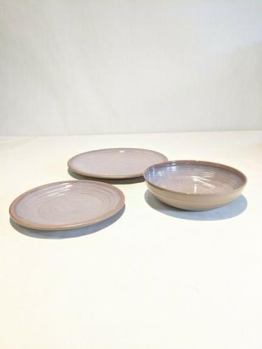 melamine dinnerware set clay collection gray 12