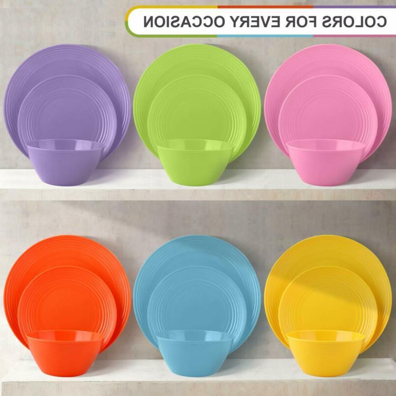 Melange Melamine Set-Dinner Plate, Salad Soup Bowl