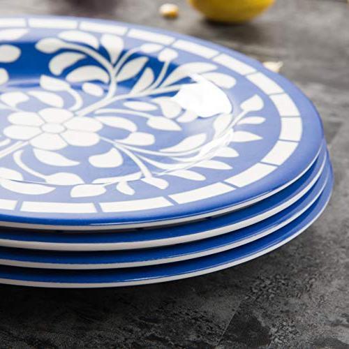 Melamine 12 Set for Dishwasher Lightweight Blue