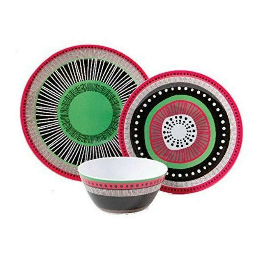 Melamine Dinnerware Set Bowls Dishes Kitchen Tableware Assorted