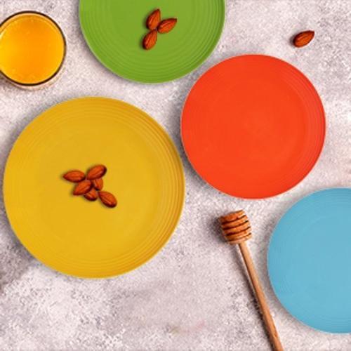 Melange Dinnerware Set Shatter-Proof Chip-Resistant Melamine Plates Bowls | | Dinner Plate