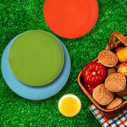 Melange Melamine Set Chip-Resistant Plates Bowls | Dinner Plate