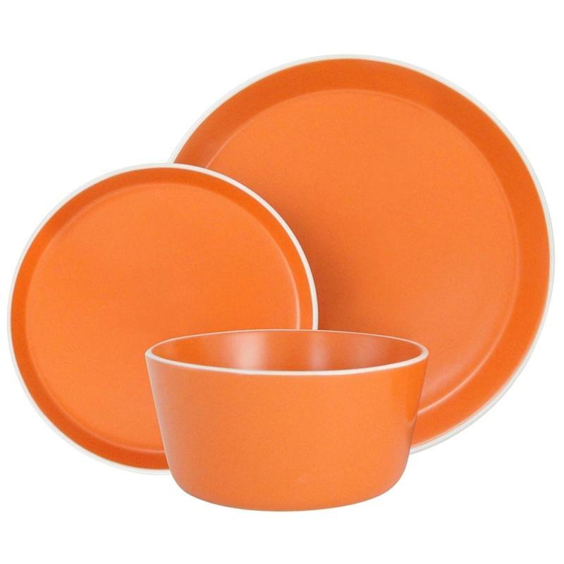 Melange Stoneware 18-Piece Dinnerware Set    Service For 6 D