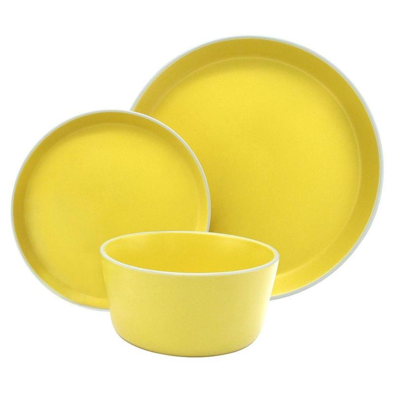 Melange Stoneware 18-Piece Dinnerware Set  | Service For 6 D