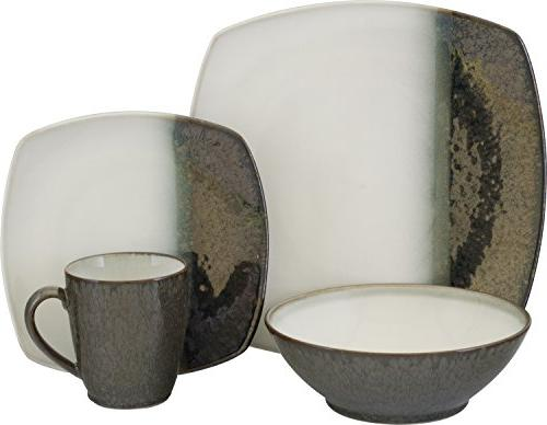 metallics black dinnerware set