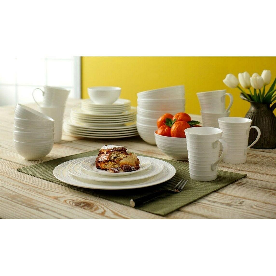 mikasa swirl white 36 pc dinnerware set