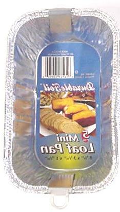 Mini Foil Loaf Pan - 5 Pack Case Pack 24 Home Kitchen Furnit