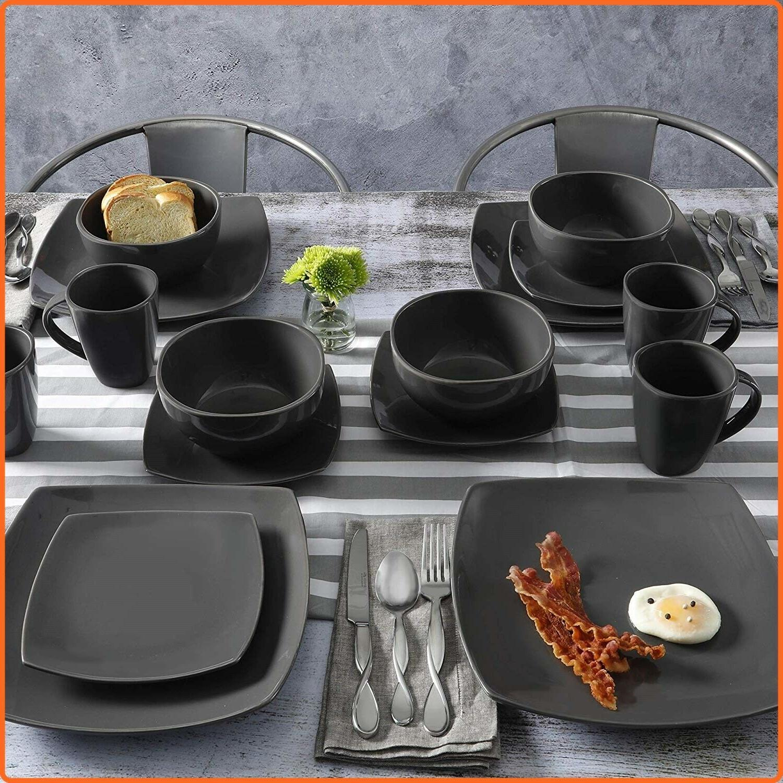 Modern Dinnerware Set 16 Piece Plates Bowls