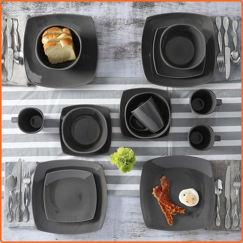 Modern Piece Square Dinner Bowls