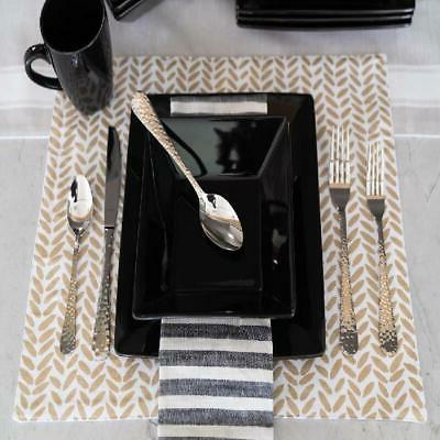 Modern Dinnerware Piece Square Dinner Plates Bowls Kitchen Dish