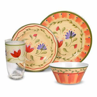 napoli melamine dinnerware set