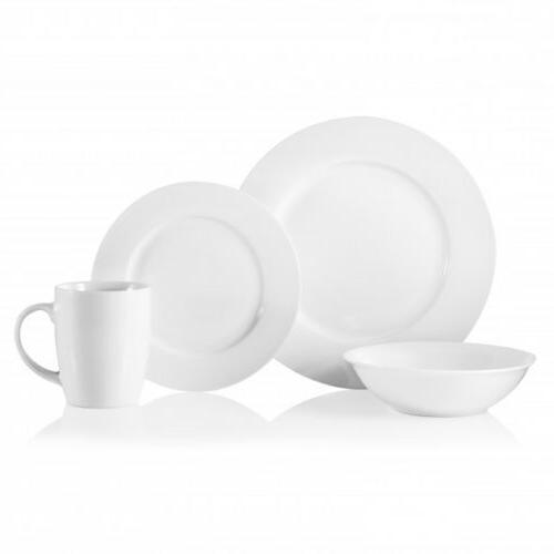 natural white 32 piece porcelain dinnerware set