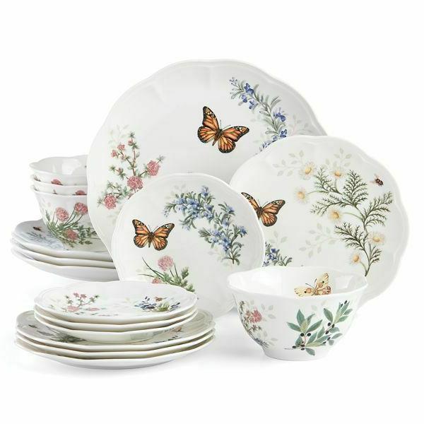 new butterfly meadow herbs 20 piece dinnerware