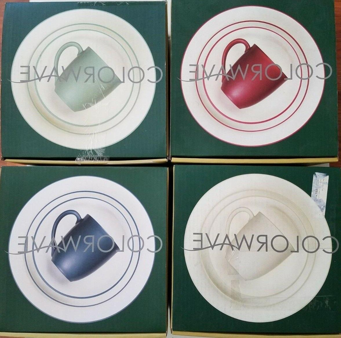 new colorwave coupe 4 piece place setting