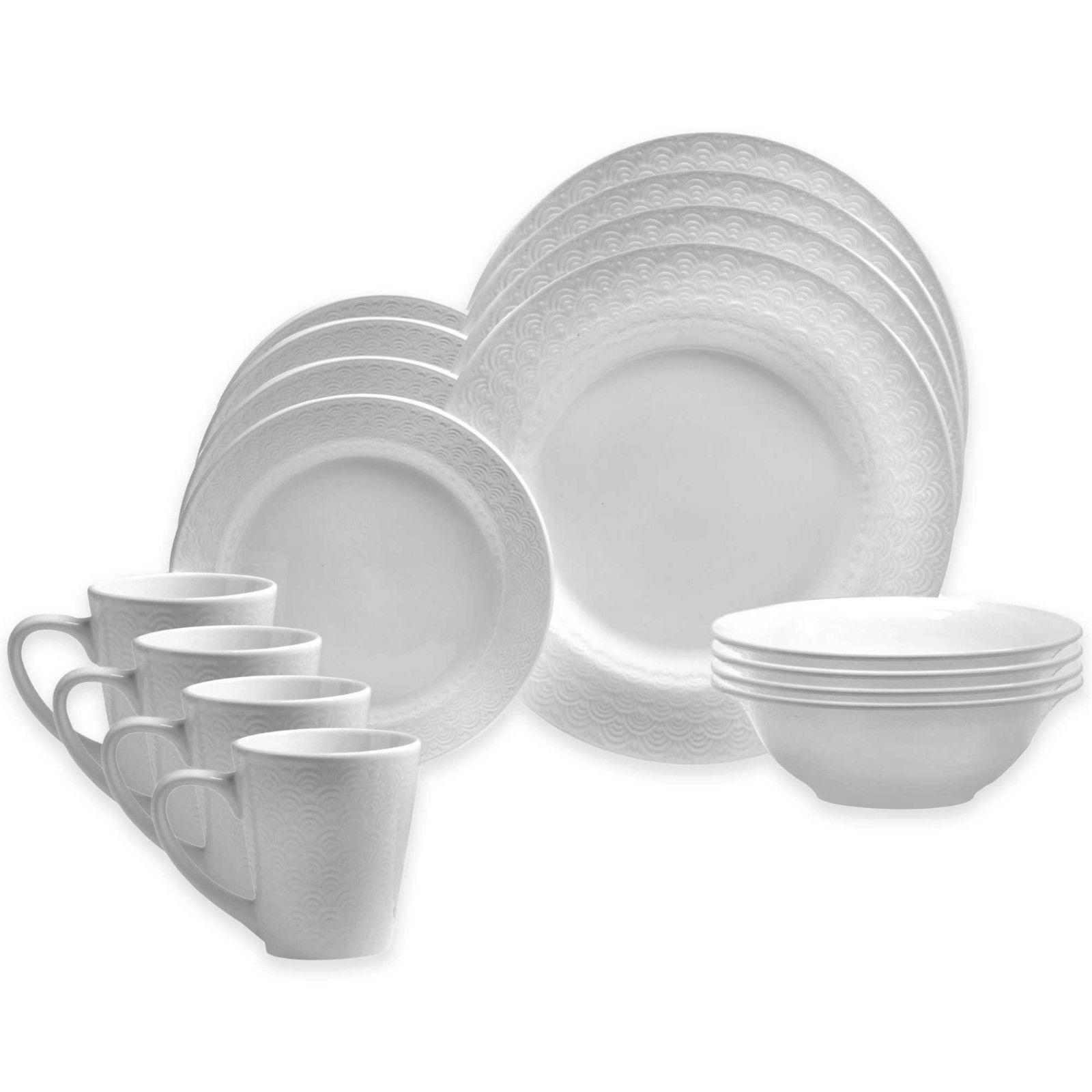 ** NEW ** Oneida Kato Porcelain 16-Pc Dinnerware Set ** FACT